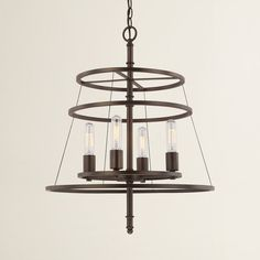 Perfect above the foyer or dining table, this chandelier casts a warm glow over any space.
