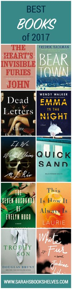 Best Books of 2017: My Best Books of 2017 are much lighter than my usual fare and I was on a completely different wavelength than the serious literary critics.