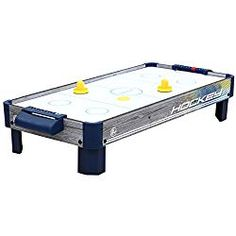 Harvil Tabletop Air Hockey Table with Powerful Electronic Blower, 2 Paddles, and 2 Pucks. - Best Mini Air Hockey Table for Kids - Teenager Stocking Stuffers, Air Hockey, Small Tables, Table Games, Poker Table, Game Room, Space Saving, Modern Design, Indoor