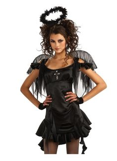 a plus sized halloween 18 costumes to play dress up in dark angel costume halloween costumes and costumes - Halloween Costumes Angel Wings