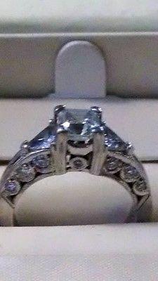 Tacori Platinum and Diamond Engagement Ring - http://elegant.designerjewelrygalleria.com/tacori/tacori-platinum-and-diamond-engagement-ring/