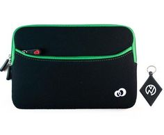 Toshiba Thrive (7 Inch Tablet) Black Neoprene With Green Zipper Outside Pocket For Extra Accessories. Includes NuVur ™ keychain. (MDK2G2G1) by Kroo. $7.50. Protect your investment from minor bumps, scratches and debree with this one of a kind sleeve case, made from the finest quality materials with Style and Durability in mind. Fits your Toshiba Thrive 7 inch Tablet. Includes NuVur ™ keychain.
