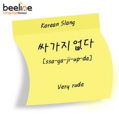 Learn Korean Slang: Very rude.
