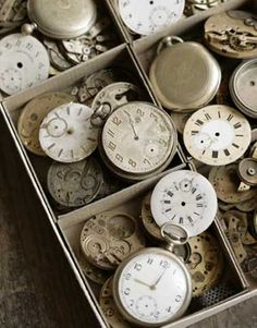 Salvaged clock parts. Wish I could find a bunch of.these