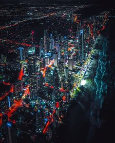 Looks so surreal 💥 Creds to Travel Pictures, Travel Photos, Best Vacations, Amazing Destinations, Gold Coast, Wonderful Places, Night Life, Surrealism, Travel Inspiration