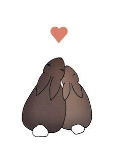 Bunny love #Free #Printable #VintyKids
