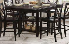 Homelegance Philipsburg Counter Height Table - Deep Cherry