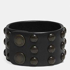 Wide Studded Cuff Bracelet - Coach