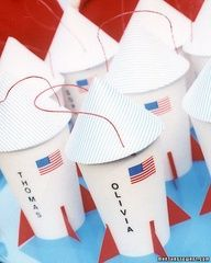 Image Detail for - Rocket ship party favors! Made from paper hot cups.