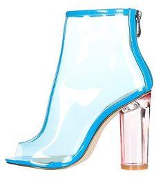 Cape Robbin BENNY-1 Womens Perspex Peep Toe Ankle Boots Women's Beauty, Beauty Women, Fashion Beauty, Women's Fashion, Peep Toe Ankle Boots, Cape, High Heels, Booty, Sandals