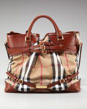 Burberry Check Tote, Large...too cute! I saw it in London at the Burberry Factory...loved it!