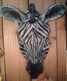 Zebra mask: artist, glenda coley