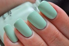 nails  China Glaze Re-Fresh Mint .