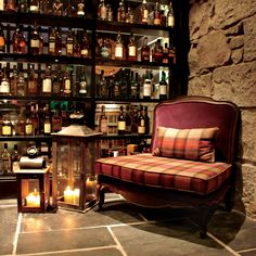 Love the authentic look of this! Aberdeen Malmaison Whisky Snug bar