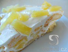 Rychlý nepečený ananasový dort -