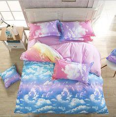 Cloud Sky Zip Open Single Queen King Size Bed Set Pillowcases Quilt Duvet Cover