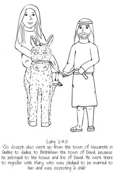 Mary and Joseph // UMHB Easter Pageant Coloring Book