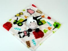 Little Miracles Cow Barn Farm Pig Tractor Baby Blanket Security Costco Lovey #LittleMiraclesCostco