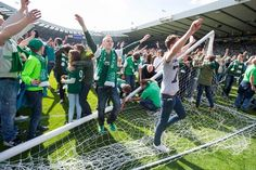 Crowd trouble and a pitch invasion at the end of Hibernian's Scottish Cup victory over Rangers left the chief executive of the Scottish FA, Stewart Regan, 'shocked and appalled' Glasgow, Edinburgh, Hibernian Fc, Old Trophies, Spiegel Online, The Guardian, Pitch, Victorious