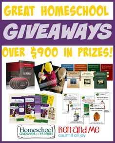 Homeschool Giveaways and Ben and Me, along with a host of homeschool blogging friends, are bringing the homeschool community GREAT GIVEAWAYS and FREEBIES!