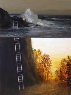 Dreamy Split-Level Landscape Paintings by Jeremy Miranda - Enpundit