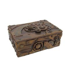 #Home #Decor: Decorators and Trinkets: Steampunk Trinket / Jewelry Box Steam Punk Stash