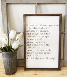 Take Life Season By Season   Joanna Gaines Quote ~ Made from quality wood   latex paint   wood stain ~ All signs come ready to hang with wire backing ~ Measurem