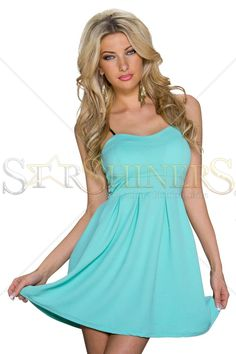 Stylish Bond Turquoise Dress
