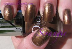 """""""Gold Nugget"""" It's almost more bronze. It's really sparkly. Dior Nail Polish, Dior Nails, Golden Nugget, Nail Colors, Hair Makeup, Make Up, Bronze, Beauty, Colour"""