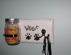 Custom Shabby Chic Dog Leash Holder Dog, going to make this for my Moms dog