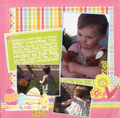 I'd Rather Have the Bunnies - Scrapbook.com - #scrapbooking #layouts