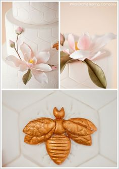 Honeycomb & Golden Bee Wedding Cake (minus the honeycomb)