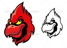 Red Cardinal Bird  #GraphicRiver         Red cardinal bird head in cartoon style for sports mascot design. Editable EPS8 (you can use any of your vector program) and JPEG (can edit in any graphic editor) files are included  	 SPORTS  	                                         	 MASCOTS  	                                            	 MEDICINE  	                              	 FOOD  	                                           	 LABELS  	                                           	 WEDDING  	…