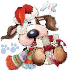Christmas Drawing, Christmas Art, Christmas Ideas, Christmas Animals, Christmas Pictures, Decoupage, Christmas Greeting Cards, Christmas Greetings, Library Design