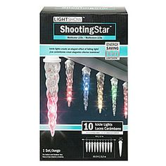 Perfect Lightshow™ LED Shooting Star™ Icicle Lights, 10 Count At Big Lots. Nice Design