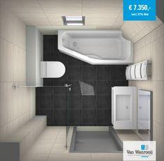 Kleine badkamer met bad - Kleine badkamers.nl