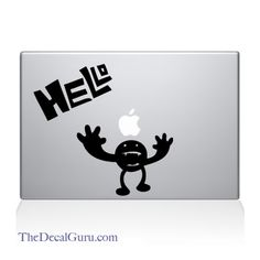 Find the Hello Creature Macbook decal at the Decal Guru online store. Mac Decals, Macbook Decal, Creatures, Macbook Sticker, Macbook Stickers