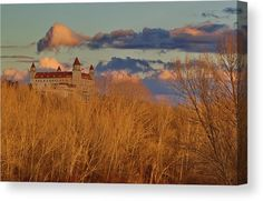 """Castle and golden forest. Bring your artwork to life with the texture and depth of a stretched canvas print. Your image gets printed onto one of our premium canvases and then stretched on a wooden frame of 1.5"""" x 1.5"""" stretcher bars (gallery wrap) or 5/8"""" x 5/8"""" stretcher bars (museum wrap). Your canvas print will be delivered to you """"ready to hang"""" with pre-attached hanging wire, mounting hooks, and nails. #bratislava #castle #canvas #canvasprint #homedecor Canvas Frame, Canvas Art, Canvas Prints, Photography Awards, Fine Art Photography, Picture Walls, Wall Art For Sale, Pin Pin, Hanging Wire"""