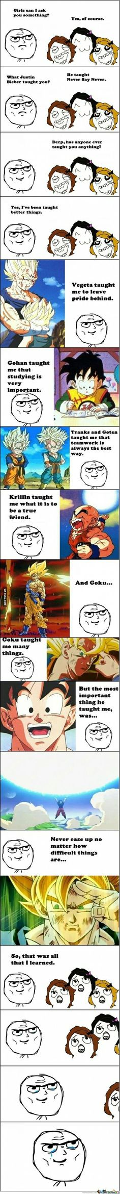 What DBZ taught me.