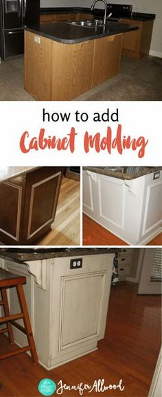How to add panels to Cabinet Doors - Jennifer Allwood - Kitchen Makeover Ideas - Cabinet Makeover Ideas