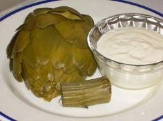 Kalyns Kitchen®: Fresh Artichokes and Recipe for Moms Dipping Sauce for Artichokes  [#SouthBeachDiet friendly from Kalyn's Kitchen]