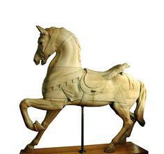 dentzel carousel horse | Dentzel-antique-carousel-horse-stripped-non-rom
