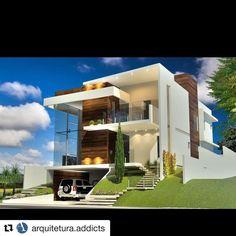 #Repost @arquitetura.addicts ・・・ Uma casa é uma casa né minha gente ❤️❤️❤️❤️ Via #pinterest - Nossos projetos em @arquitetura.addicts #anabelalvarezarquitetos #house #fachadasdecasas