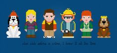 Clue Club Characters  Cross Stitch PDF Pattern by pixelpowerdesign, $6.00