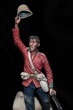 Detail of Bill Horan's Foot at Rorke's Drift 1879 Military Figures, Military Diorama, Military Art, Military History, Zulu Warrior, British Uniforms, Model Hobbies, War Image, Second Empire
