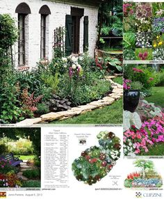 Planning a Shade Garden -- like the edging I could do that