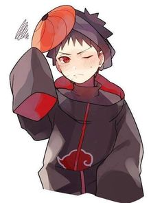 Cutie Obito in Akatsuki cloak and Tobi mask! Naruto Shippuden Sasuke, Naruto Kakashi, Anime Naruto, Obito Kid, Naruto Cute, Otaku Anime, Madara Uchiha, Anime Guys, Boruto