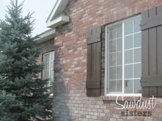 DIY Board-N-Batten window shutters! So easy to make! Full tutorial!