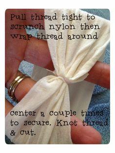 DIY Nylon Baby Headband - A Picture Tutorial