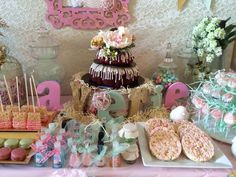 Vintage birdie baby shower party! See more party ideas at CatchMyParty.com!